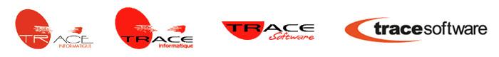 Evolución del logo de Trace Software