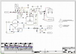Diagrama de proceso inteligente gracias a las tablas de propiedades en elecworks pid