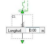 Introducir la longitud del cable