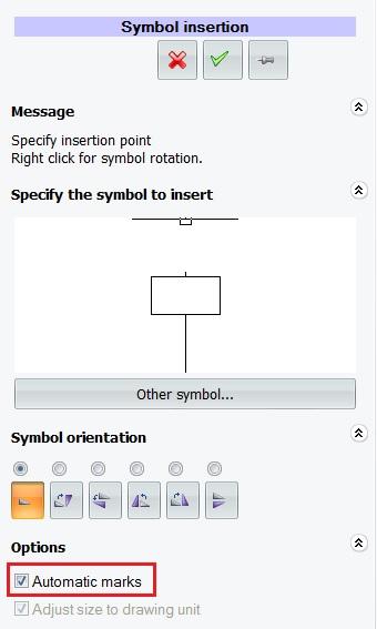 Inserción del símbolo en elecworks