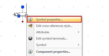 Menú contextual propiedades del símbolo