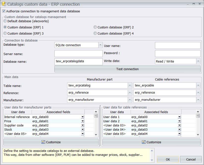 Conexión ERP bases de datos elecworks