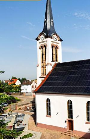 Iglesia Saint-Pancrace y su instalación solar realizada con archelios calc™