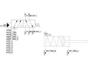 Elementos con puntos de conexión en elecworks Fluid