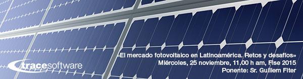 Mercado fotovoltaico en Latinoamerica. Ponencia Fise 2015