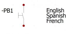 Idiomas del componente en esqeuma electrico elecworks
