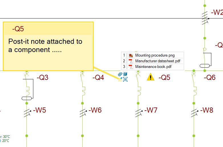 adjuntar notas en diagrama unifilar de elec calc