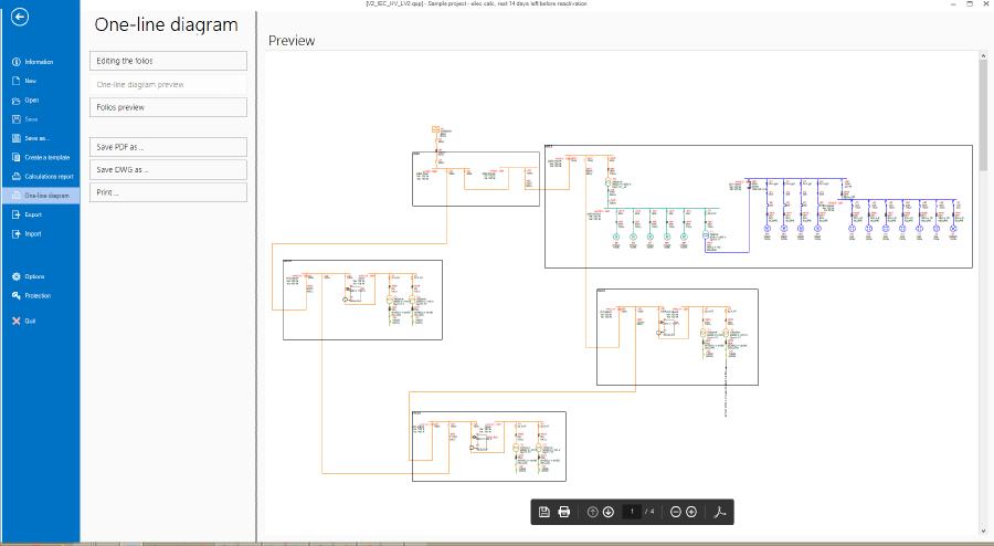 Exportar el diagrama unifilar en pdf