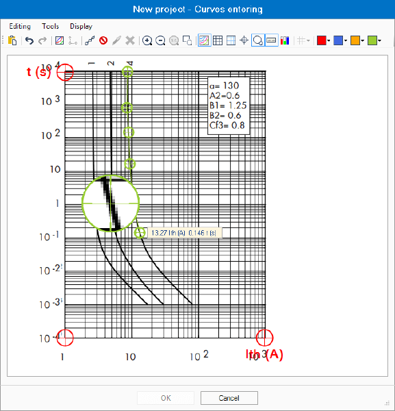 Herramienta para la introducción de curvas en elec calc
