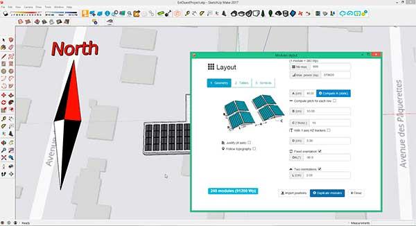 diseño fotovoltaico este-oeste