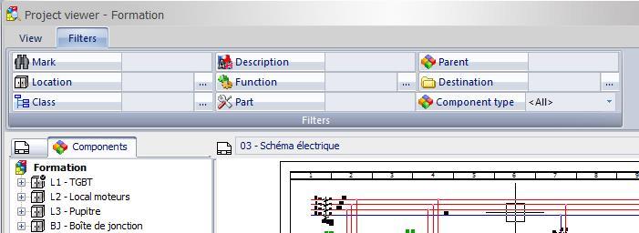 Commande d'insertion automatique dans elecworks