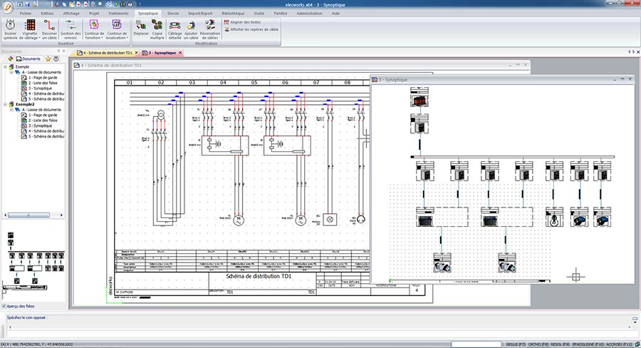 schematic diagram software   trace softwarethus  you can instantly recover your calculation data obtained through elec calc™ and automatically generate the multi line scheme and installation wiring