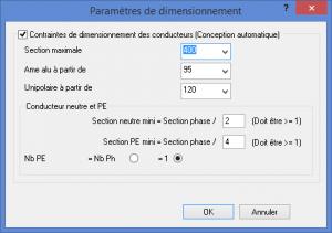 Calcul automatique et paramètres de dimensionnement