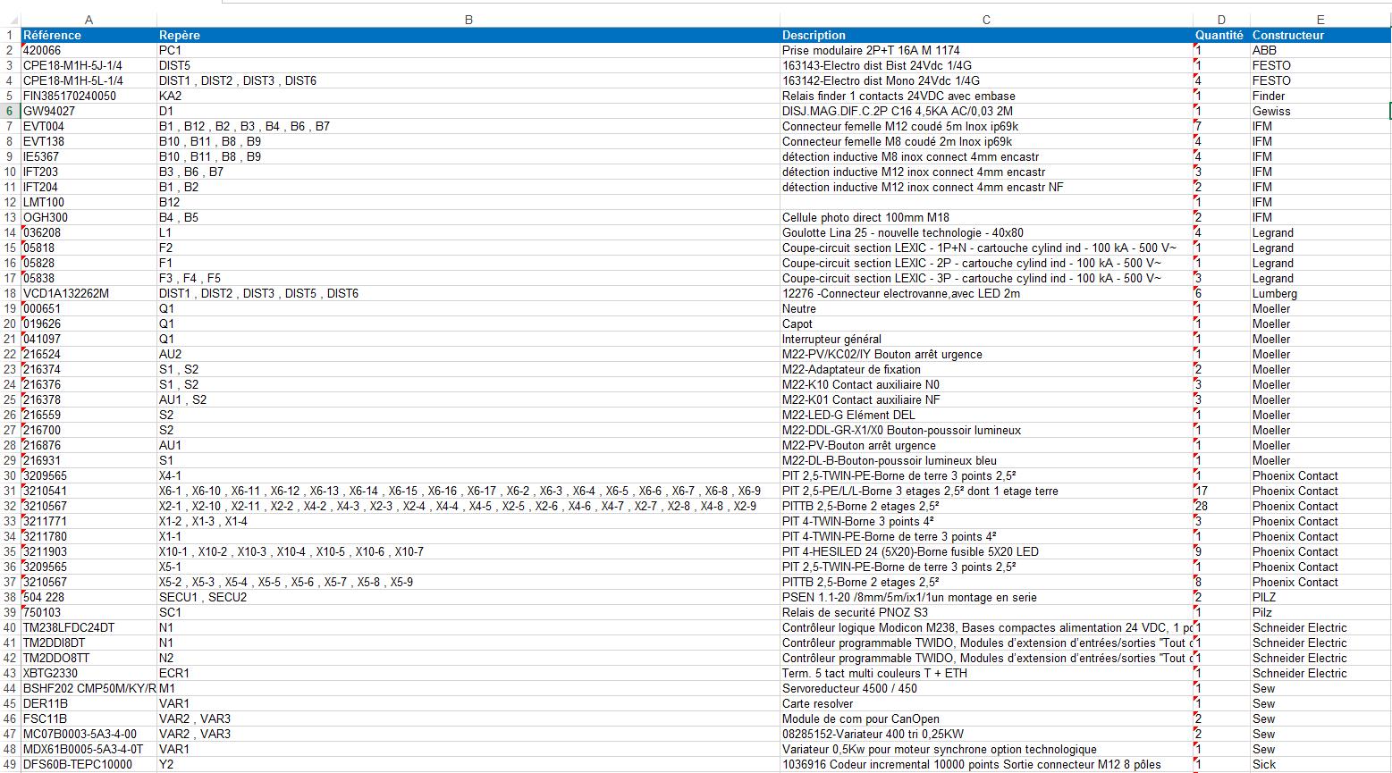 Electrical project data in excel format trace software export des nomenclatures matriel au format excel dans elecworks alramifo Image collections