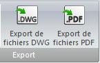 Bouton d'export au format DWG dans elecworks