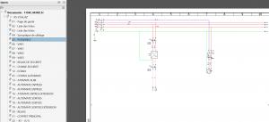 Utilisation de PDF intelligents dans elecworks : navigation dans le composant et ses éléments le constituant