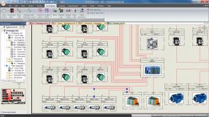 Le synoptique de c blage dans elecworks trace software - Technique de cablage des armoires electriques ...
