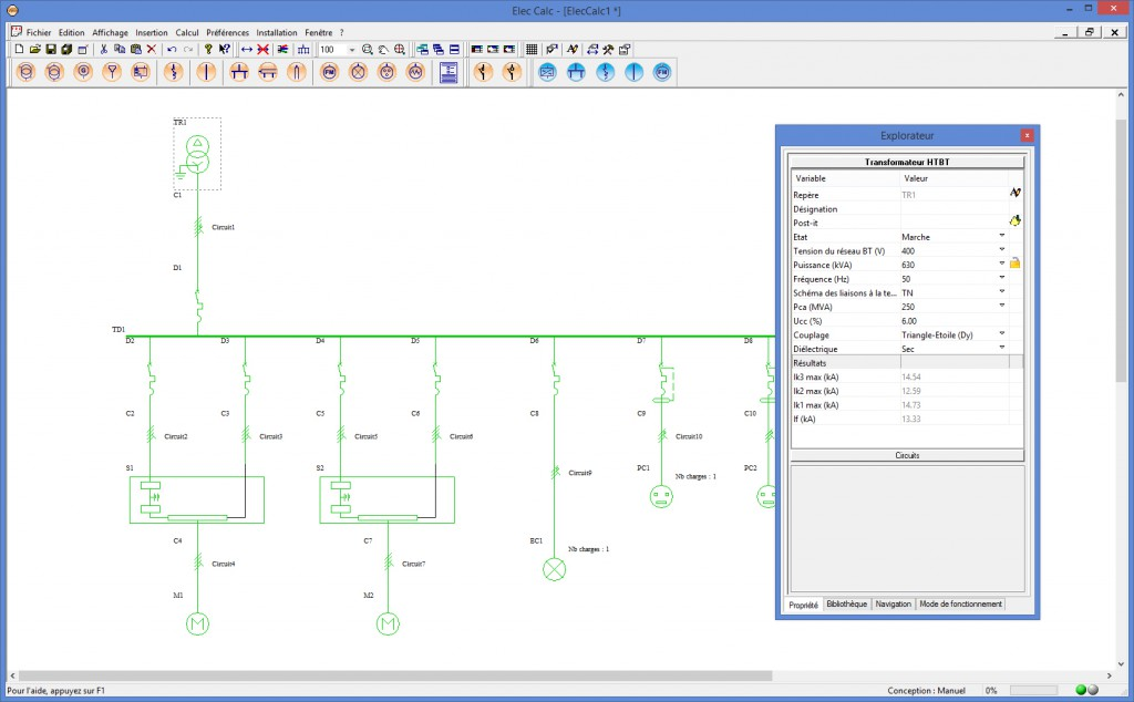 Line Art Software : Import d un synoptique depuis elec calc™ trace software