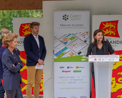 inauguration ombriere Sophie Gaugain