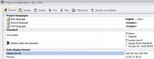 Configurazione del progetto in elecworks