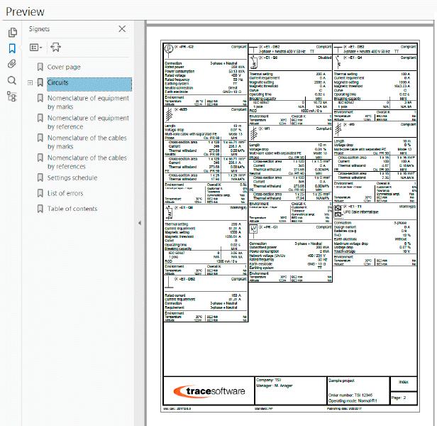 Una relazione di calcolo completa per l'impianto
