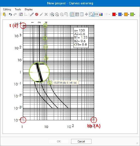 Strumento per inserire le curve in elec calc