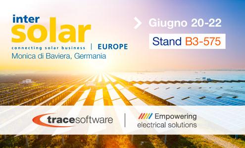 Trace Software International conferma la sua partecipazione ad Intersolar