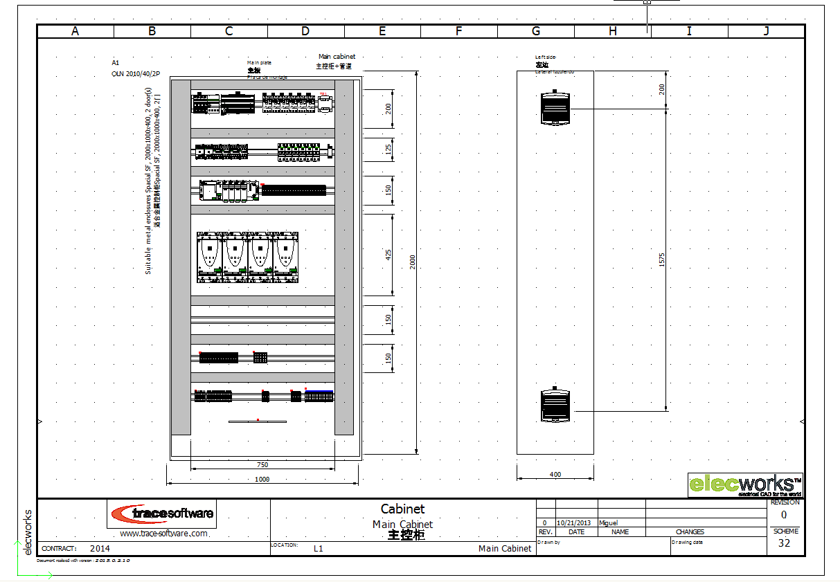 Electrical Design Software Elecworks Electronic Circuit For Mobile 2d Cabinet Layout In