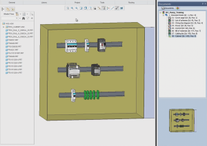 3D cabinet layout in elecworks for PTC Creo