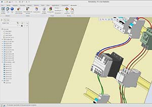 Automatic wiring components in elecworks
