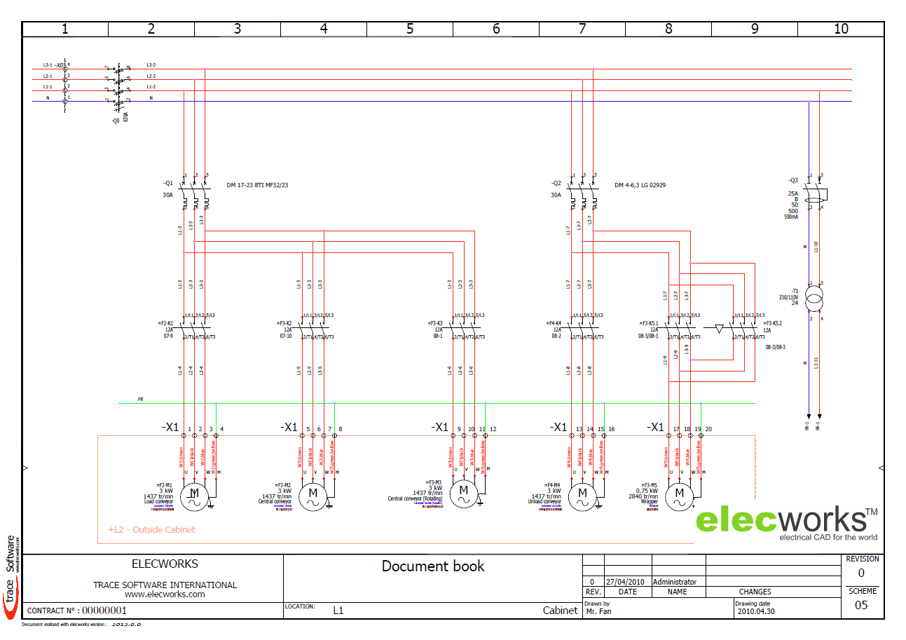 Dc Motor Wiring Diagram Free Download Schematic Electrical Design Software Elecworks Power Control Schematics In