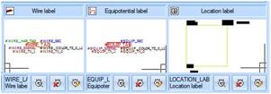 L'étiquette de localisation, de câble et d'équipotentielle sont paramétrables dans la configuration du projet