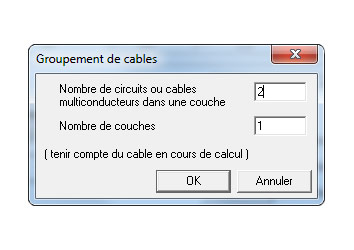 Calcul section de cable excel
