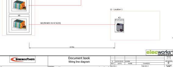 elecworks cable synoptic drawing