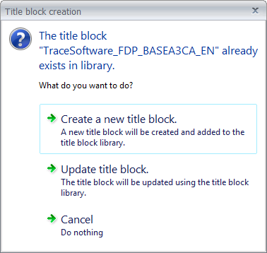 Creating a new title block in elecworks