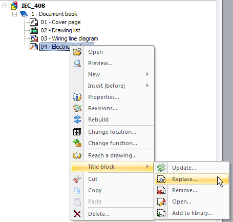 Customized title block insertion into elecworks projects