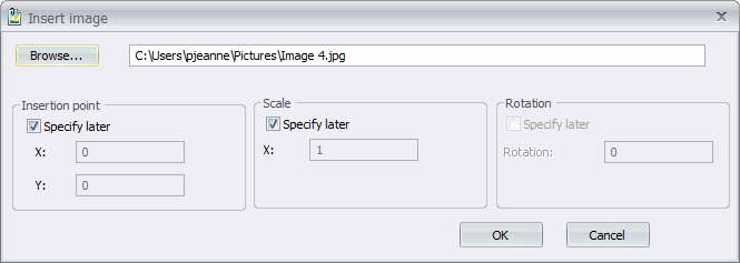 Logo insertion window in elecworks