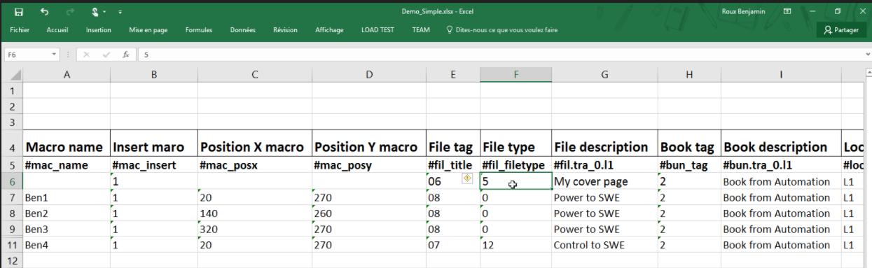 Automatización de Excel en elecworks