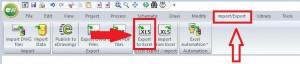 Exportar los datos a una hoja de excel desde elecworks