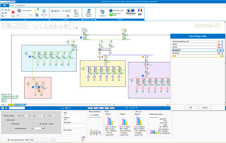 electrical installations calculation software trace software