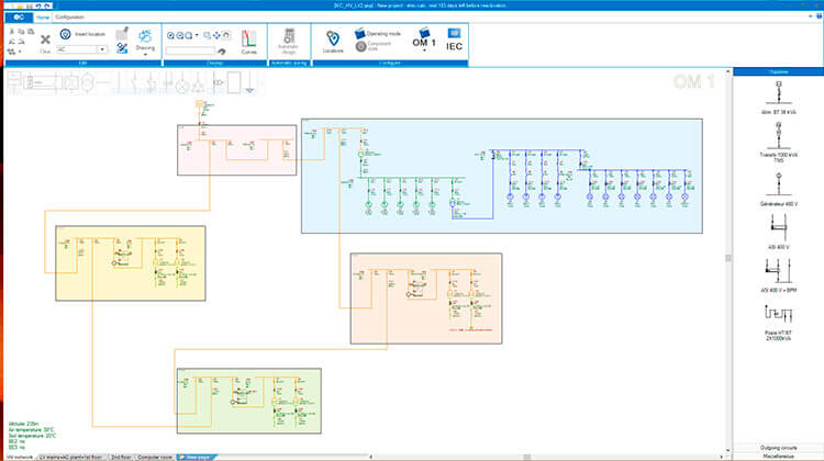 Electrical one-line diagram | Trace Software International