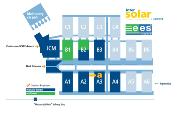 Inter Solar 2017 Hall Map
