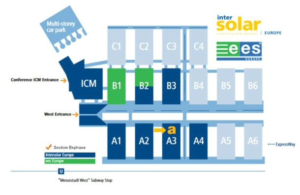 Inter Solar 2017 Hall Map