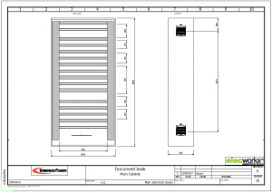 Draw a cabinet layout in elecworks
