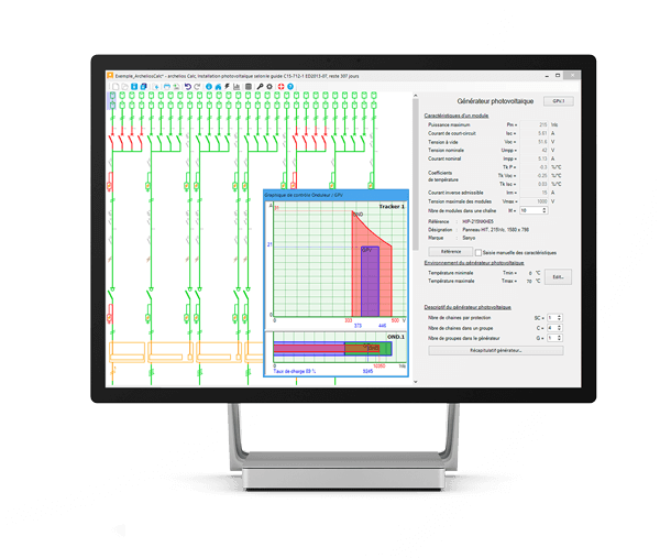 Software for sizing and calculation of PV installations